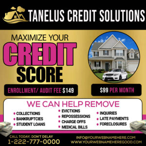 credit solution flyer free psd template