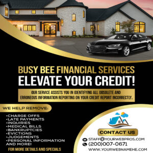 credit score flyer free psd template