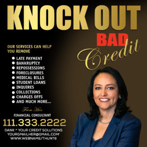 knock out Bad credit flyer free template psd